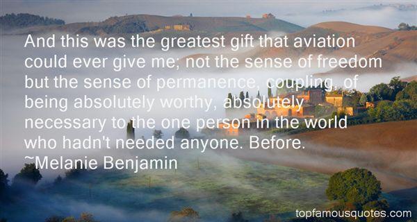Melanie Benjamin Quotes