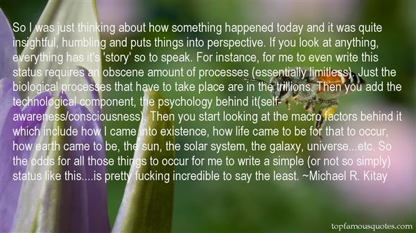 Michael R. Kitay Quotes