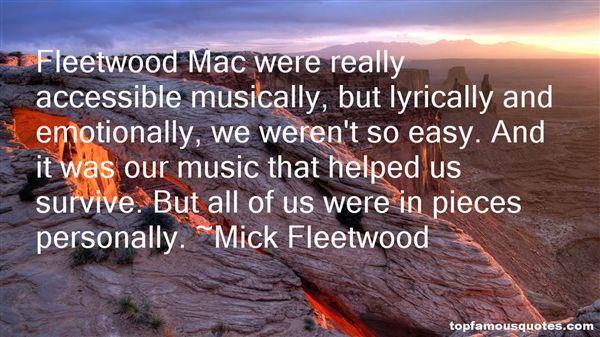 Mick Fleetwood Quotes