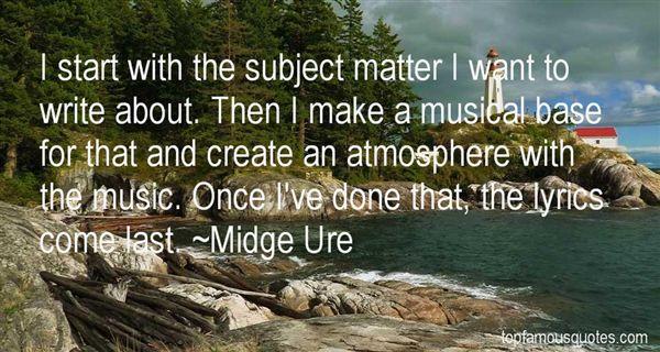 Midge Ure Quotes