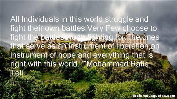 Mohammad Rafiq Teli Quotes