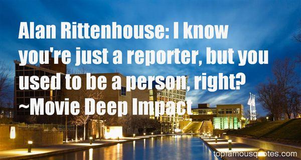 Movie Deep Impact Quotes