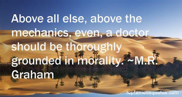 M.R. Graham Quotes