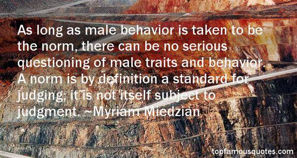 Myriam Miedzian Quotes