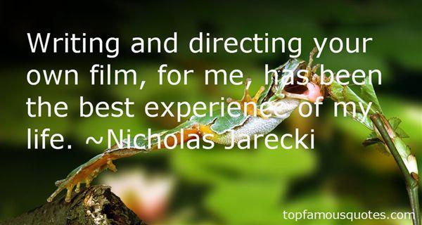 Nicholas Jarecki Quotes
