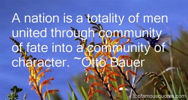 Otto Bauer Quotes
