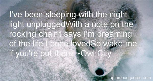 Owl City Quotes
