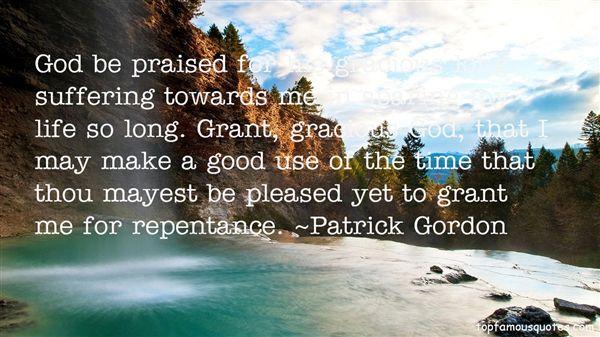 Patrick Gordon Quotes