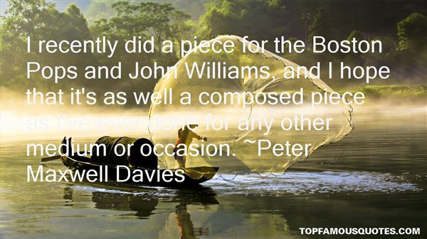 Peter Maxwell Davies Quotes