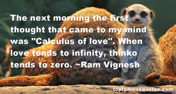 Ram Vignesh Quotes