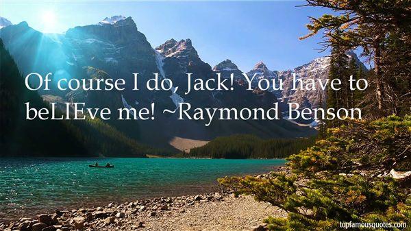 Raymond Benson Quotes