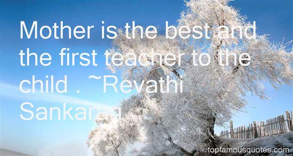 Revathi Sankaran Quotes