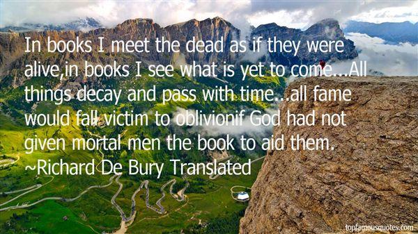 Richard De Bury Translated Quotes