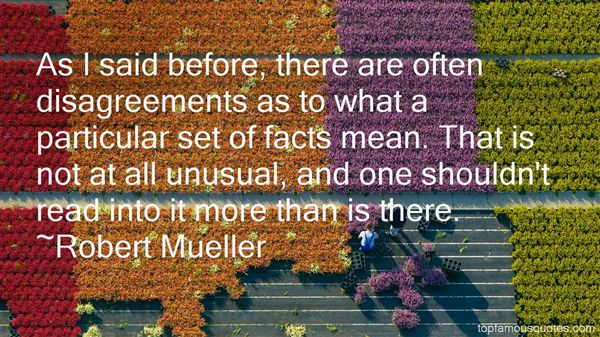 Robert Mueller Quotes