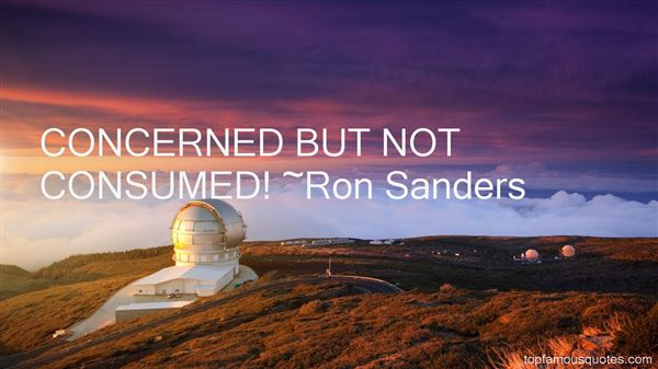Ron Sanders Quotes