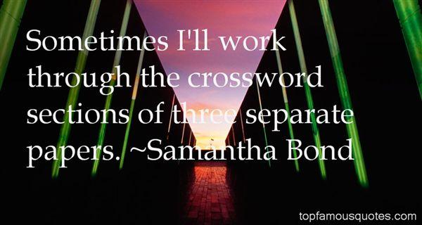 Samantha Bond Quotes