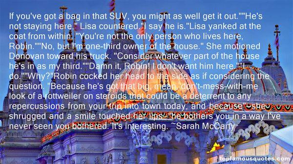 Sarah McCarty Quotes