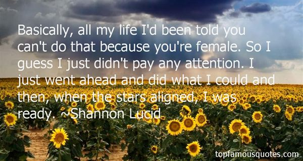 Shannon Lucid Quotes