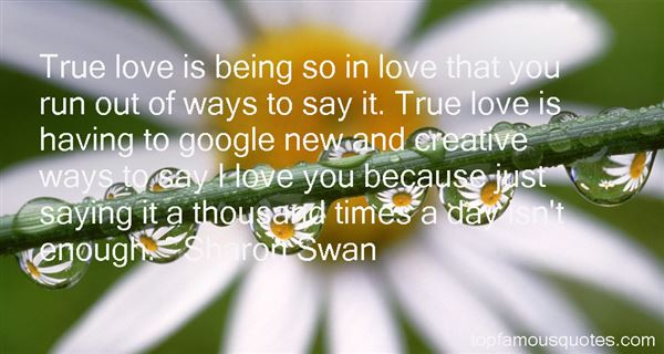 Sharon Swan Quotes