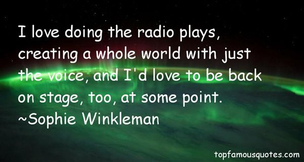 Sophie Winkleman Quotes