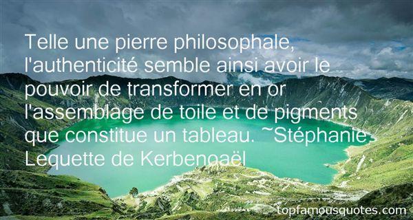 Stéphanie Lequette De Kerbenoaël Quotes