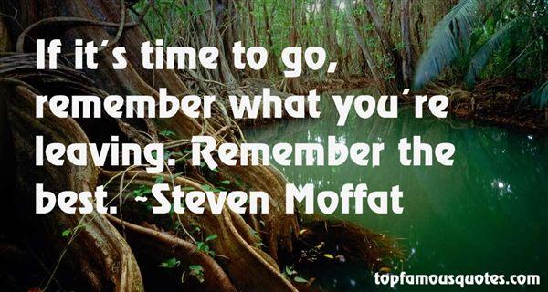 Steven Moffat Quotes