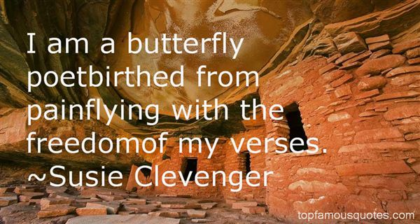 Susie Clevenger Quotes
