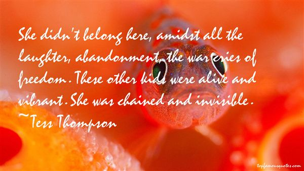 Tess Thompson Quotes