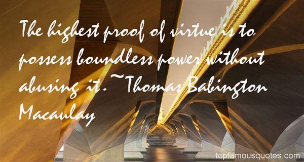 Thomas Babington Macaulay Quotes