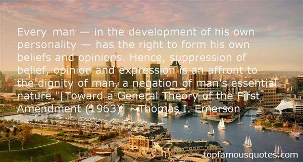 Thomas I. Emerson Quotes