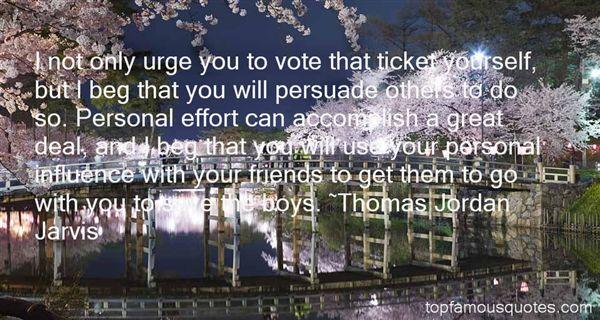 Thomas Jordan Jarvis Quotes