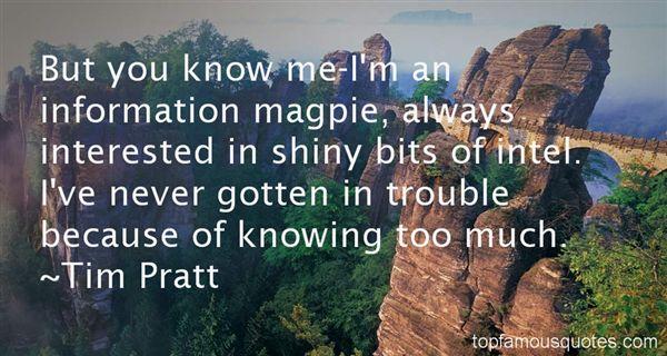 Tim Pratt Quotes