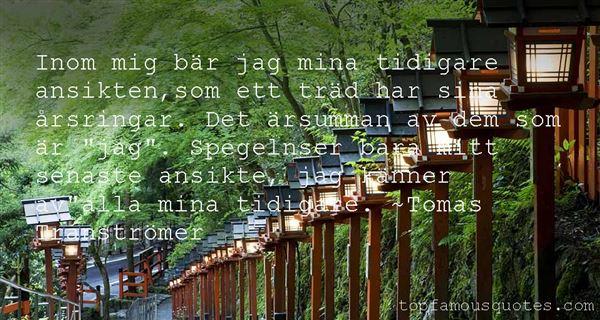 Tomas Tranströmer Quotes
