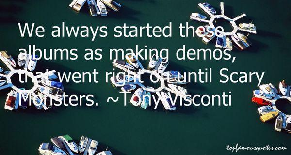 Tony Visconti Quotes