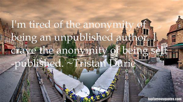 Tristan Durie Quotes