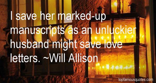 Will Allison Quotes