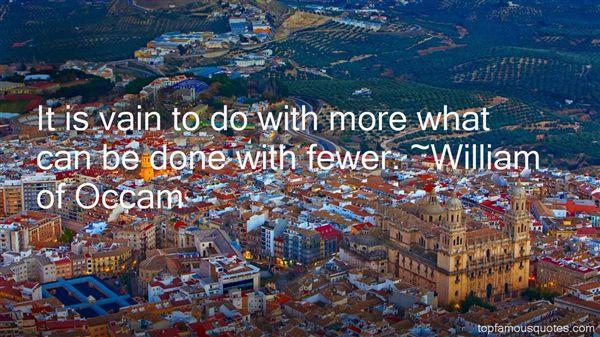William Of Occam Quotes