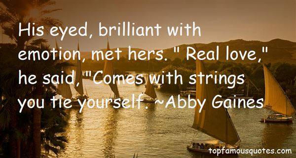Abby Gaines Quotes