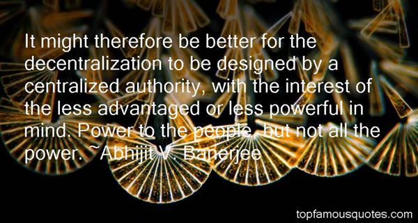 Abhijit V. Banerjee Quotes