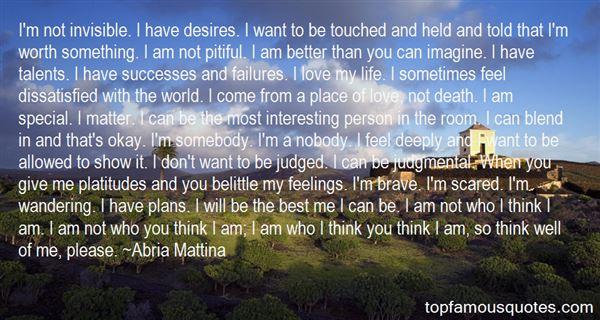 Abria Mattina Quotes