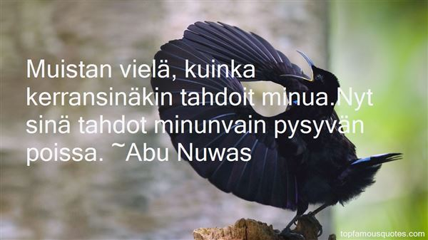 Abu Nuwas Quotes