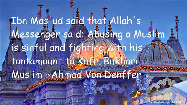 Ahmad Von Denffer Quotes