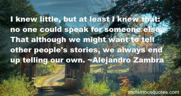 Alejandro Zambra Quotes
