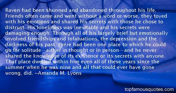 Amanda M. Lyons Quotes