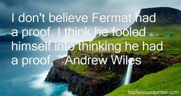 Andrew Wiles Quotes
