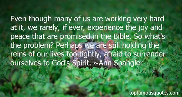 Ann Spangler Quotes