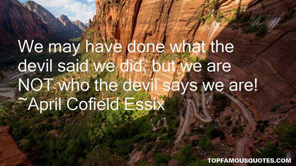 April Cofield Essix Quotes