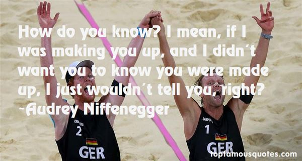 Audrey Niffenegger Quotes