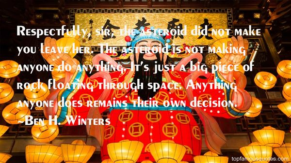 Ben H. Winters Quotes