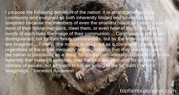Benedict Anderson Quotes